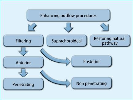 Fig. 1 – Classificazione delle procedure antiglaucomatose.
